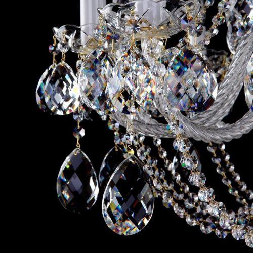 Люстра Art Glass Radka 10 золото